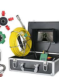 Недорогие -7-дюймовый 22-мм трубы инспекции видеокамера 30 м ip68 водонепроницаемый дренажная труба канализационные камеры системы 1000 твл камера с 6 Вт светодиодные фонари