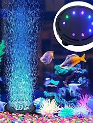 Недорогие -Оформление аквариума LED подсветка Воздушные насосы Орнаменты Разные цвета пластик Энергосберегающие Бесшумно 220 V 1шт / #