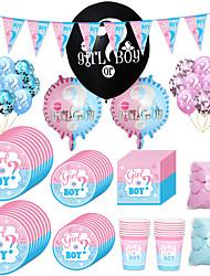 billige -Fest / Bursdag Parts tilbehør Pyntegjenstander Tvinning Plast / Rent papir Klassisk Tema / Kreativ / Fødselsdag