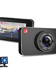 Недорогие -junsun h9 1080p hd автомобильный видеорегистратор 170 градусов широкоугольный 3-дюймовый ips с двойной линзой видеорегистратор с ночным видением / g