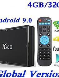 Недорогие -x96h Smart TV Box Android 9.0 4 ГБ 32 ГБ Allwinner H603 Wi-Fi 1080 P 4 К Netflix YouTube установить приставку