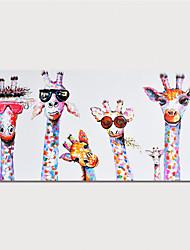 Недорогие -Hang-роспись маслом Ручная роспись - Животные Modern Включите внутренний каркас