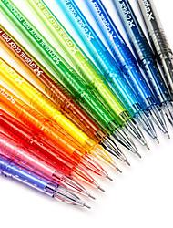 Недорогие -Гелевая ручка Ручка Ручка, Пластик Разноцветный Цвета чернил Назначение Школьные принадлежности Офисные принадлежности В упаковке 12 pcs