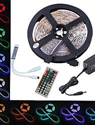 billige -led 12v smd 5050 rgb led stripelys led tape multi-farger med 44 nøkler fjernkontroll 300 lysdioder ikke-vanntette lysstrimler med driver