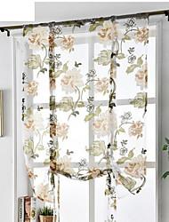 Недорогие -С цветами Прозрачный 1 панель Прозрачный Гостиная   Curtains