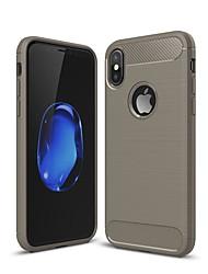 Недорогие -Кейс для Назначение Apple iPhone XS / iPhone XR / iPhone XS Max Защита от удара / Ультратонкий Кейс на заднюю панель Однотонный Углеродное волокно