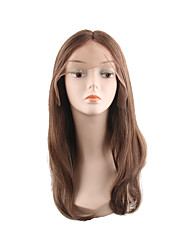 cheap -Synthetic Lace Front Wig Natural Straight Style Middle Part Lace Front Wig Synthetic Hair 28 inch Women's Smooth / Heat Resistant / Classic Brown Wig Long Natural Wigs