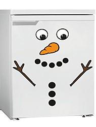 Недорогие -Наклейки на холодильник - Простые наклейки / Праздник стены стикеры Рождество Столовая