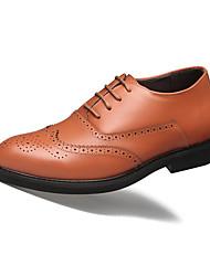 Недорогие -Муж. Комфортная обувь Кожа Осень На каждый день Туфли на шнуровке Доказательство износа Черный / Желтый / Для вечеринки / ужина