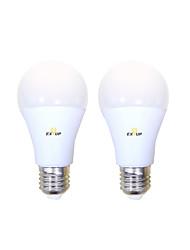Недорогие -EXUP® 2pcs 10 W Круглые LED лампы 1000 lm B22 E26 / E27 A60(A19) 14 Светодиодные бусины SMD 2835 Декоративная обожаемый Cool Тёплый белый Холодный белый 200-240 V
