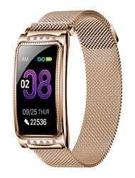 billige -f8 smart armbånd rustfritt stål bt fitness tracker støtte varsle / ecg + ppg vanntett smartklokke for samsung / iphone / android telefoner