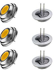 Недорогие -6шт 3 W LED лампы в форме свечи LED лампы типа Корн Двухштырьковые LED лампы 300 lm G4 1 Светодиодные бусины Высокомощный LED Тёплый белый Белый 12 V