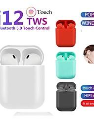 billige -LITBest LX-12 TWS True Wireless Hodetelefon Trådløs EARBUD Bluetooth 5.0 Med mikrofon