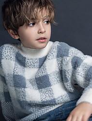 Недорогие -Дети (1-4 лет) Мальчики Активный Геометрический принт С принтом Длинный рукав Свитер / кардиган Верблюжий