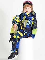 billige -Gutt Jente Skidress Vanntett Varm Anvendelig Ski Camping & Fjellvandring Vintersport Chinlon Joggedress Skiklær
