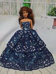 Недорогие -Вечеринка Платья Для Barbiedoll Кружево / Satin Платье Для Девичий игрушки куклы