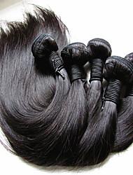 """Недорогие -5 Связок Бразильские волосы Прямой Естественные кудри Не подвергавшиеся окрашиванию Необработанные натуральные волосы Человека ткет Волосы 10""""~28"""" Нейтральный Ткет человеческих волос"""