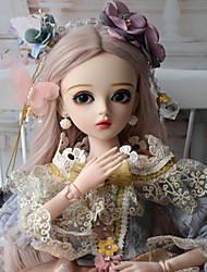 Недорогие -Doris Кукла для девочек Кукла с шаром Блайт Кукла Девочки 24 дюймовый Полный силикон для тела - Очаровательный утонченный Высокотемпературные резистивные парики Детские Девочки Игрушки Подарок