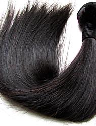 """Недорогие -1 комплект Бразильские волосы Прямой Не подвергавшиеся окрашиванию Необработанные натуральные волосы Человека ткет Волосы 10""""~28"""" Нейтральный Ткет человеческих волос"""