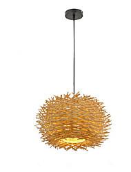 Недорогие -светильник из ротанга фарм музыка бар птичье гнездо лампа сад клетка для птиц японская бамбуковая люстра