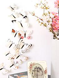 billige -dyr dobbelt lag vegg klistremerker 3d vegg klistremerker dekorative vegg klistremerker lys bryter klistremerker kjøleskap klistremerker bryllup klistremerker PVC hjemme - hvit