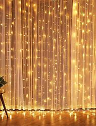 Недорогие -1 шт. 3 * 3 м светодиодный сосулька светодиодный занавес фея stringllight фея свет 300 светодиодный свет рождества для свадьбы домой окно декора вечеринки