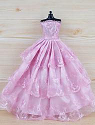 Недорогие -Платье куклы Платья Для Barbie Цветочные ботанический Кружева Ткань Хлопковая ткань органза Платье Для Девичий игрушки куклы