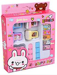 Недорогие -8шт DIY резиновая подушечка штамп набор художественного ремесла марки Детское обучение и образовательные игрушки (животное под заказ)