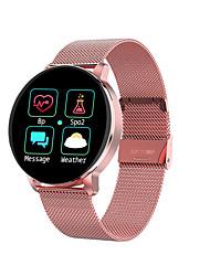 billige -r5 smartwatch rustfritt stål bt fitness tracker støtte varsle / blodtrykk måling sports smart watch kompatibel samsung / iphone / android telefoner