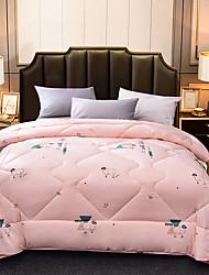 Недорогие -удобный - 1 одеяло Зима Шерсть Цветочный принт