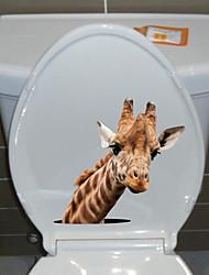 billige -søte klistremerker for hjortetoalett - kjøleskap, klistremerker til dyr, dyr stue / soverom / kjøkken