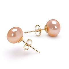 cheap Earrings-Women's 1 Drop Earrings Pearl Birthstones Gold Oval Jewelry Costume Jewelry