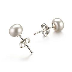 cheap Earrings-Women's 1 Drop Earrings Pearl Gold Round Jewelry Costume Jewelry