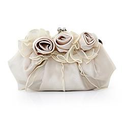 preiswerte Bags on sale-Damen Taschen Satin Abendtasche Blume für Veranstaltung / Fest Ganzjährig Purpur Rot Rosa Kamel Elfenbein