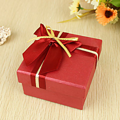 Cuboid Pearl Paper Favor Holder With Ribbons Favor Boxes-6 Wedding Favors