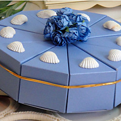 ピラミッド カード用紙 好意のホルダー とともに 花 リボン ラッピングボックス/ギフトボックス