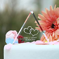 Kakepynt Personalisert Hjerter / Klassisk Par Krystall Bryllup / Bridal Shower / Jubileum Hage Tema Gaveeske