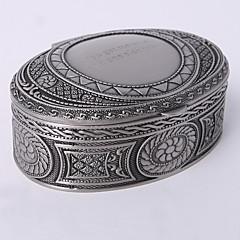 personlig vintage tutania oval smykker boks klassisk feminin stil