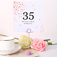cheap Place Cards & Holders-Place Cards and Holders Personalized Square Table Number Card - Flower Rain