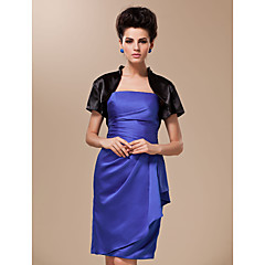 cheap Party Accessories-Short Sleeves Silk Satin Wedding Party Evening Wedding  Wraps Coats / Jackets