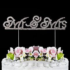 billige Kakedekorasjoner-Mr & Mrs rhinestones skinnende kake topper