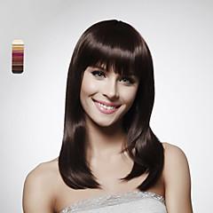 Χαμηλού Κόστους Περούκες από Ανθρώπινη Τρίχα-capless 100% ανθρώπινης τρίχας ώμους στυλ bob περούκα μαλλιά 5 χρώματα για να επιλέξετε