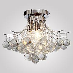 billige Dekorativ belysning-Lightinthebox Takplafond Omgivelseslys Krom Metall Krystall, Mini Stil 110-120V / 220-240V Pære ikke Inkludert / E12 / E14