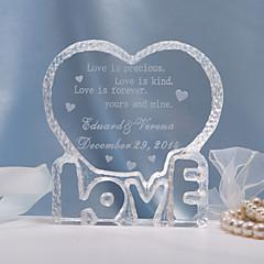 billige Kakedekorasjoner-Kakepynt Klassisk Tema Hjerter Krystall Bryllup jubileum Utdrikningslag med Gavepose