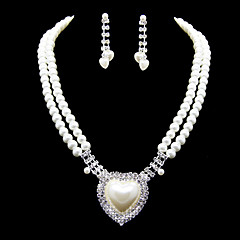 cheap Wedding Gifts-women's rhinestone jewelry set earrings / necklace - for wedding / party / special occasion