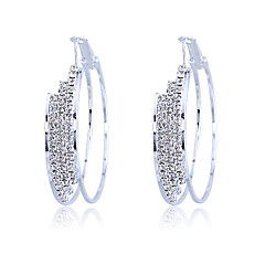cheap Earrings-Women's Crystal Alloy Round Jewelry Costume Jewelry