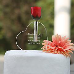 billige Kakedekorasjoner-Kakepynt Klassisk Tema Hjerter Krystall Bryllup jubileum Bursdag Utdrikningslag med Gaveeske