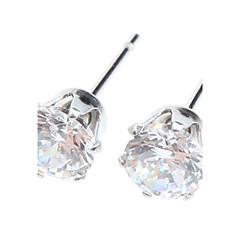 スタッドピアス ステンレス鋼 模造ダイヤモンド ジュエリー のために 日常 2 個