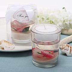 """preiswerte Kerzen Gastgeschenke-""""Kirschblüte"""" blühen-gefüllte Teelichthalter Hochzeitsbevorzugungen"""
