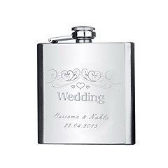 cheap Groom Gifts-Groom Groomsman Couple Parents Stainless Steel Hip Flasks Wedding Anniversary Birthday Graduation Thank You Business